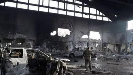 T4 i Syrien efter det israelske missilangreb