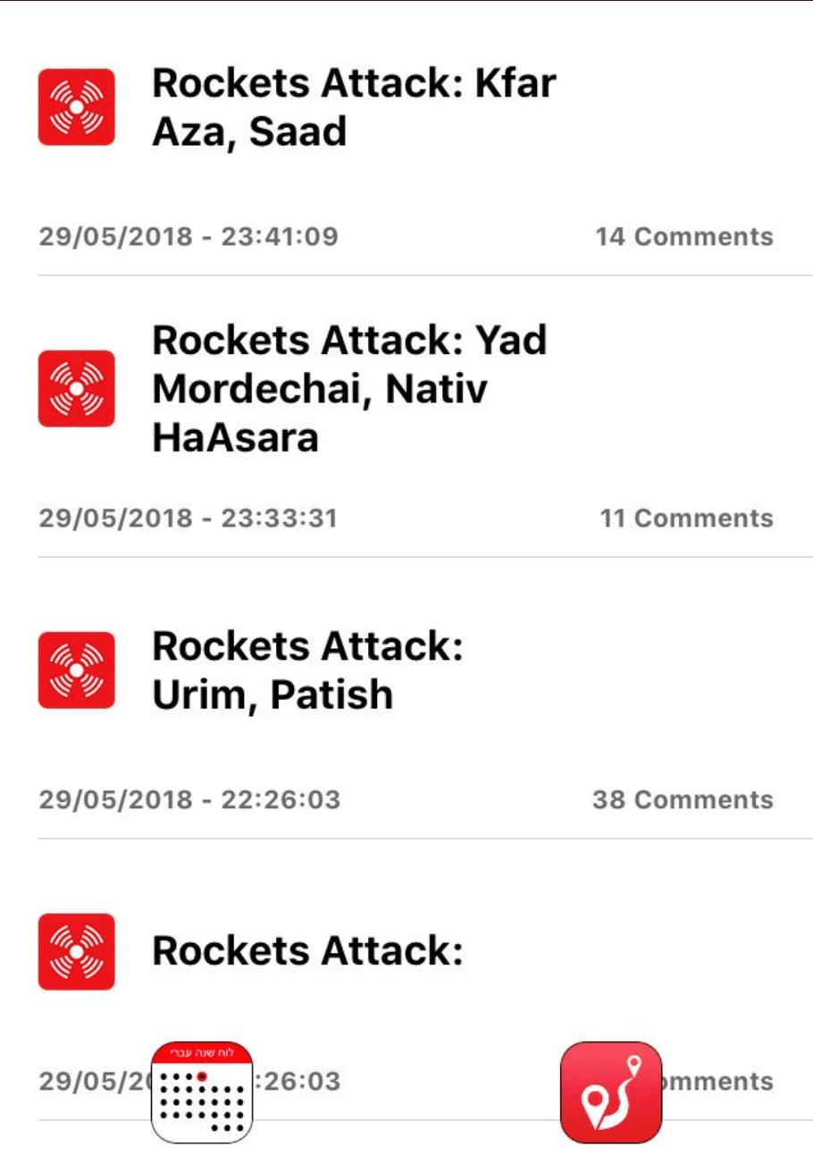 Du kan dowloade det gratis program som vi bruger i Israel så du selv kan følge med når der er raket-alarm