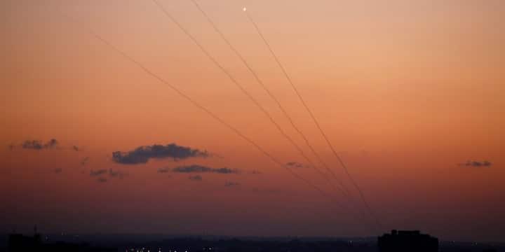 Raketter affyrede fra Gaza og på vej mod Israel