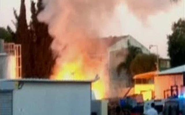Huset i Sderot som blev ramt af en af Hamas' missiler