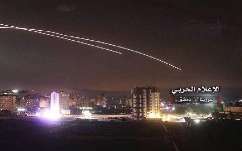 Israelske missiler over Damas