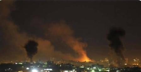 Hamas objektive i brand i Sydgaza, tæt på den egyptiske grænse