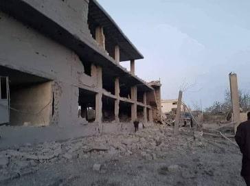 Parsadans-, den syriske hærs- og hizbollas-træningcenter efter den israelske raid.