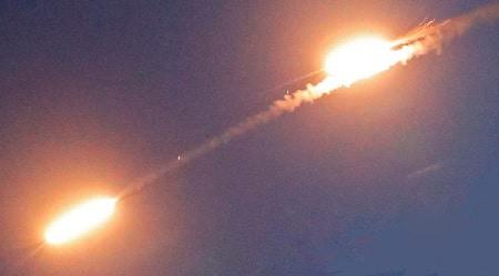 Iron dome skyder en missil ned