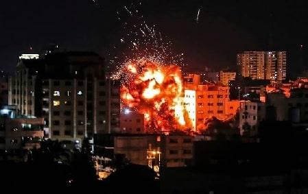 Hamas' bygning i Gaza